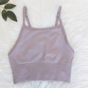 Lululemon Lavender Stretch Long Sport Yoga Top Bra